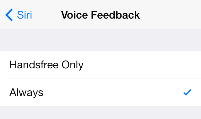 iOS 7 Siri Voice Feedback