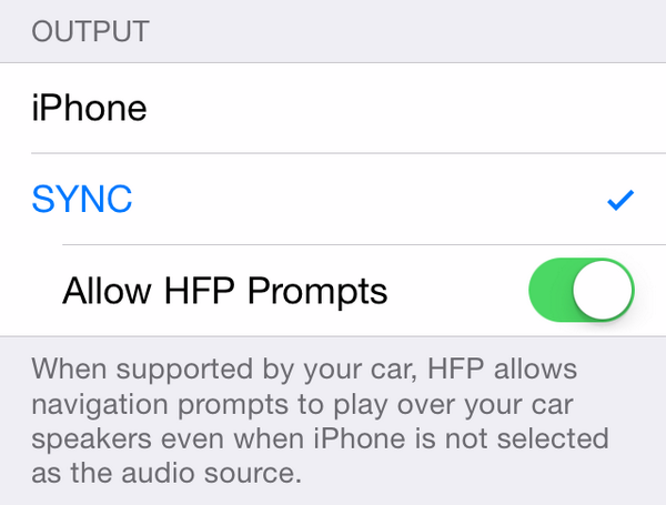 iOS 7.1 (HFP Prompts)
