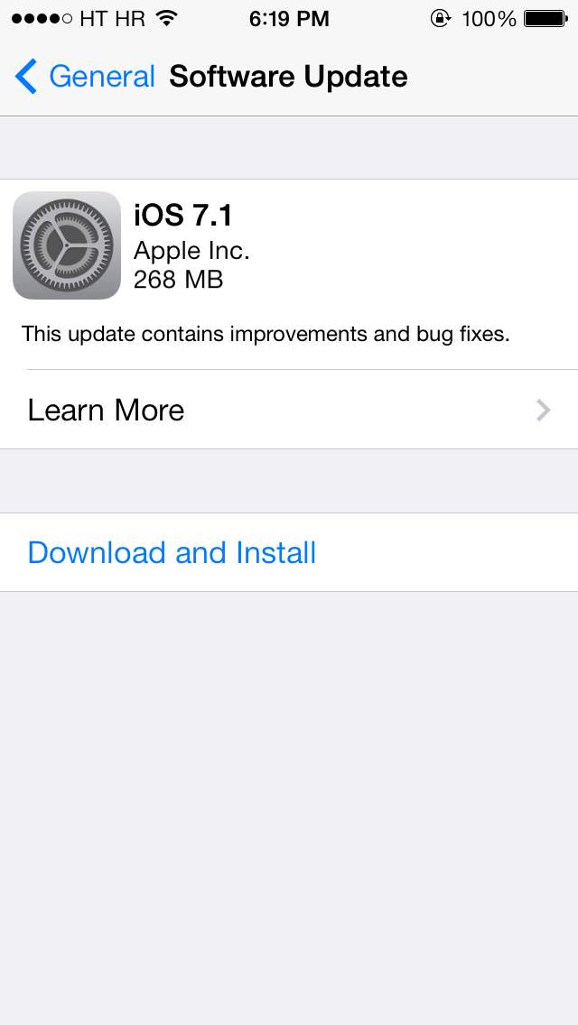 iOS 7.1 (update prompt 001)