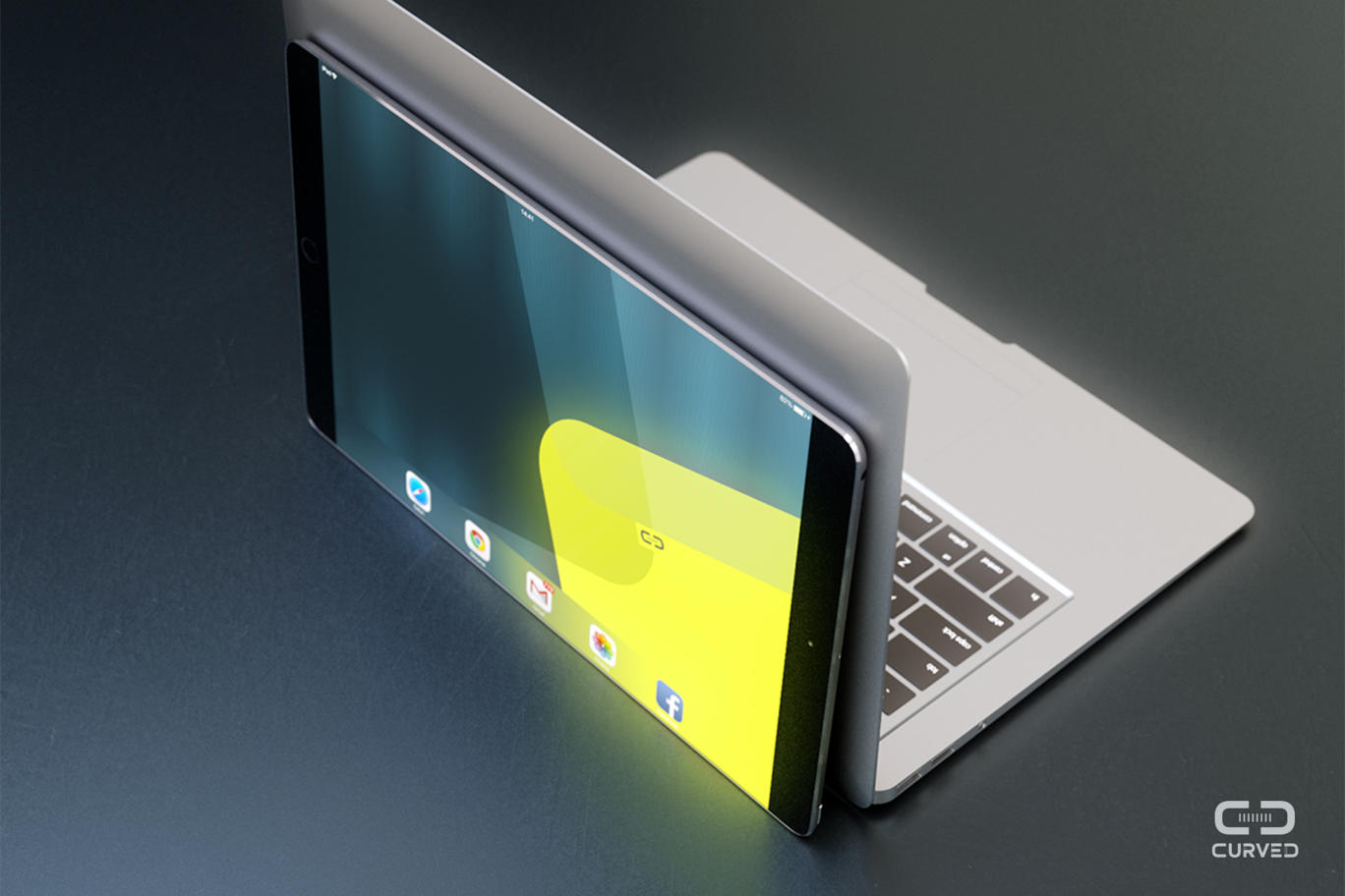 iPad Pro mockup (Curved.de 004)