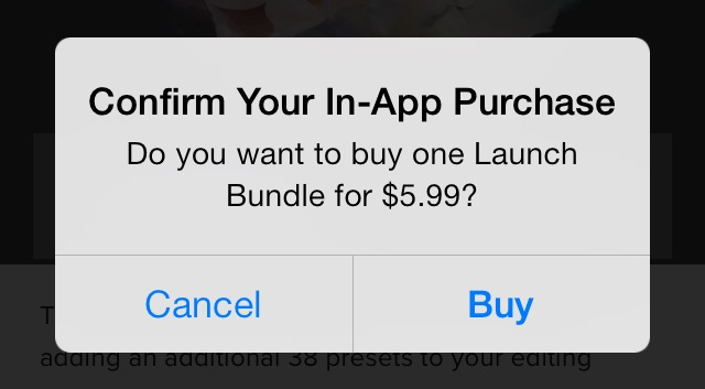 in-app purchase iOS 7