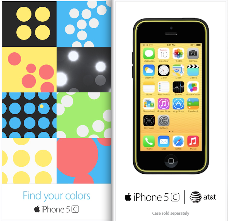 Apple pushing iPhone 5c with new animated web ads