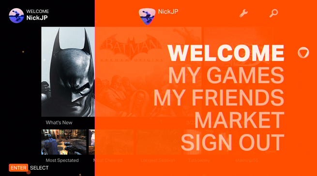 onlive-user-interface