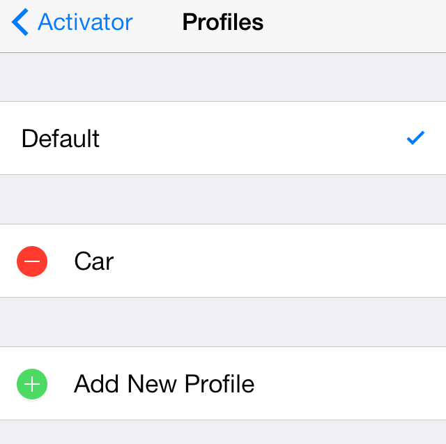 Activator Profiles Chooser