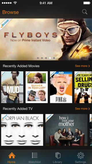 Amazon Instant Video 2.5 for iOS (iPhone screenshot 001)
