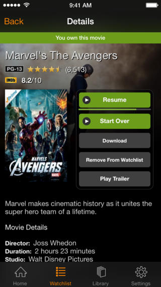 Amazon Instant Video 2.5 for iOS (iPhone screenshot 002)