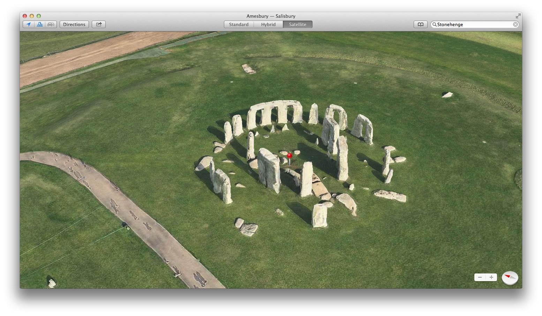 Apple Maps (Flyover, Stonehenge 002)