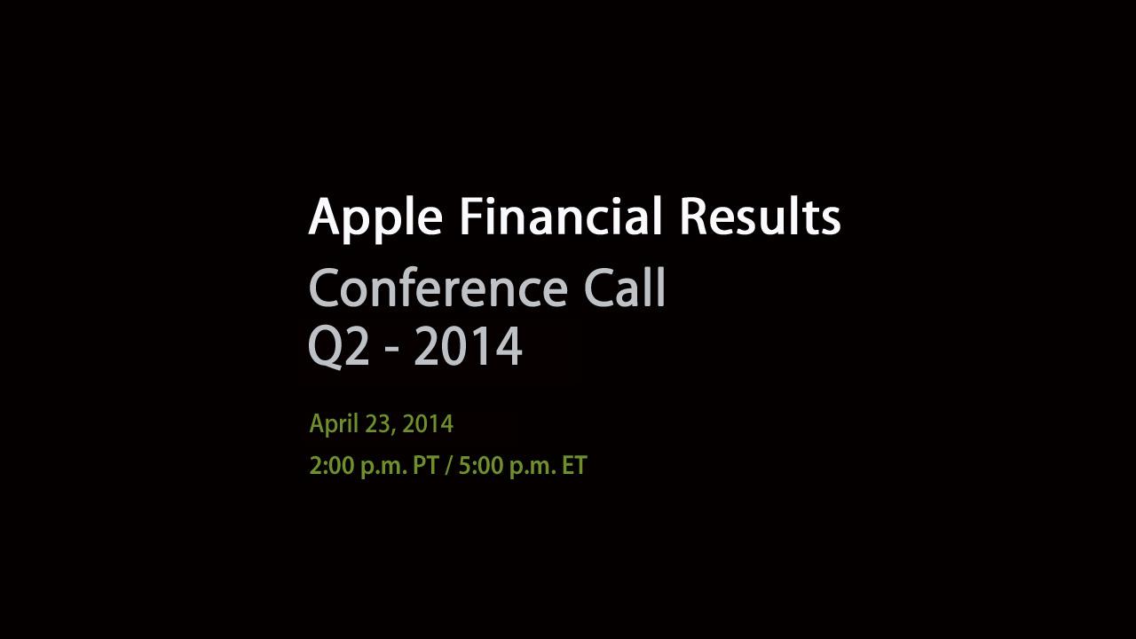 Apple Q2 2014 webcast teaser