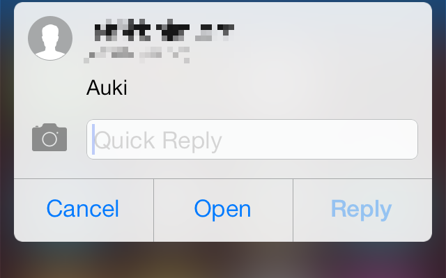 Auki Quick reply