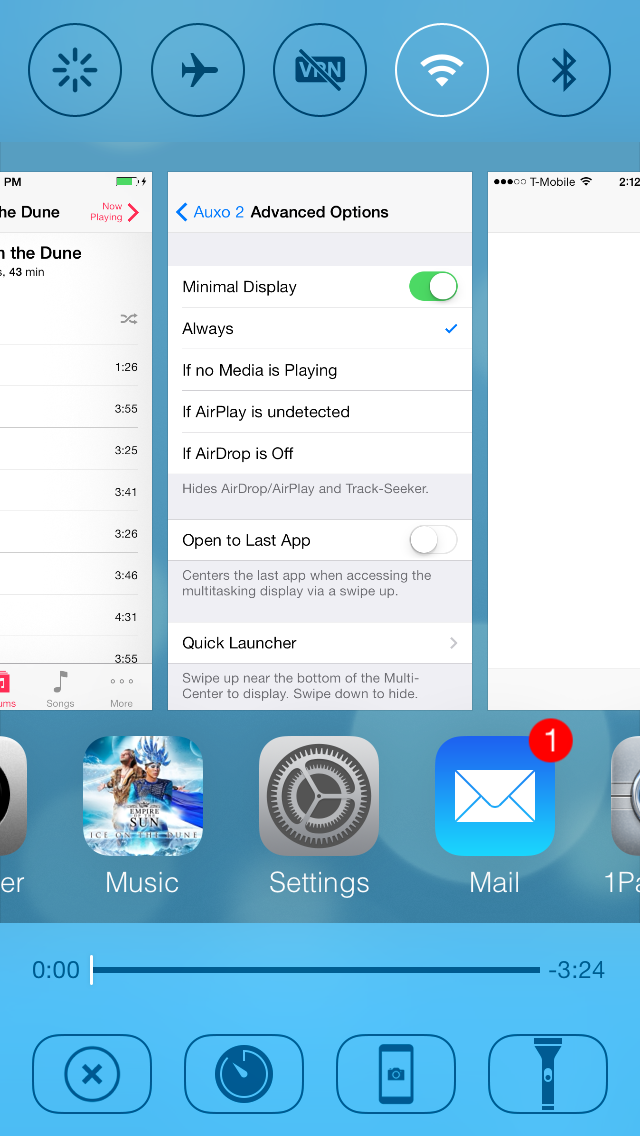 Auxo 2 update brings improved performance, CCToggles compatibility, and more