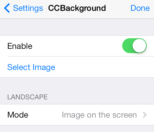 CCBackground Settings