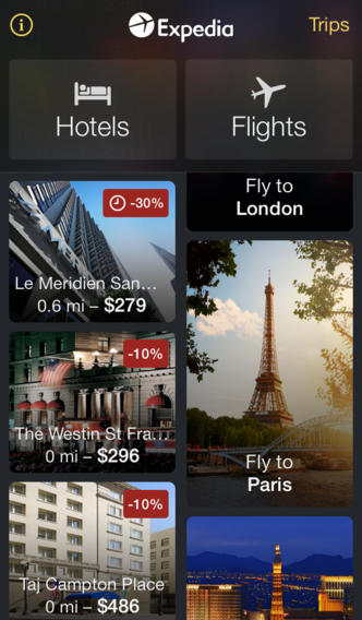 Expedia 3.6 for iOS (iPhone screenshot 001)