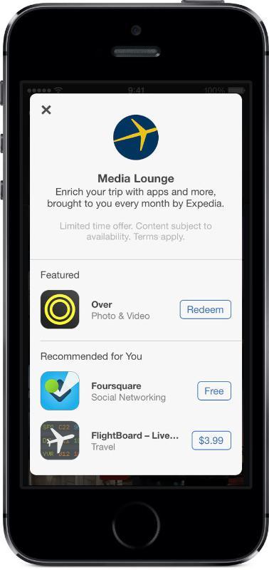 EXPEDIA.COM MEDIA LOUNGE