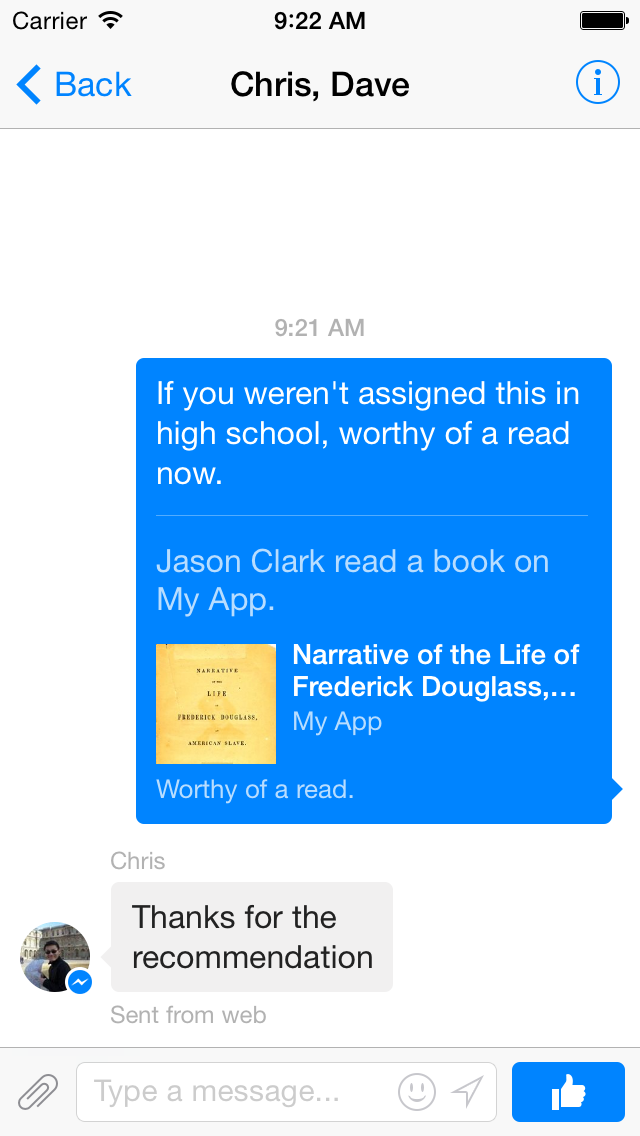 Facebook Message Dialog (image 001)