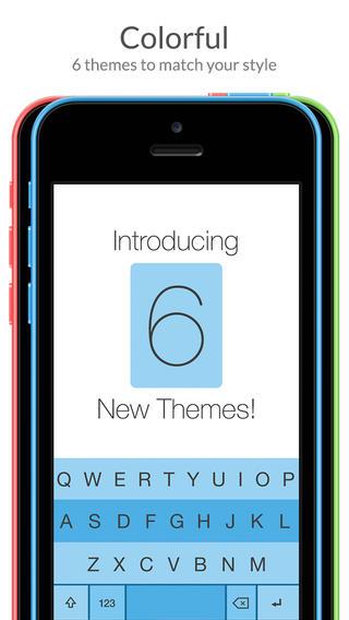 Fleksy Keyboard 3.1 for iOS (iPhone screenshot 003)