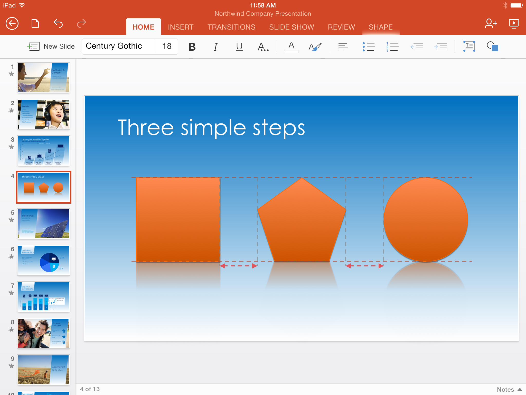 PowerPoint for iPad (SmartGuides 001)