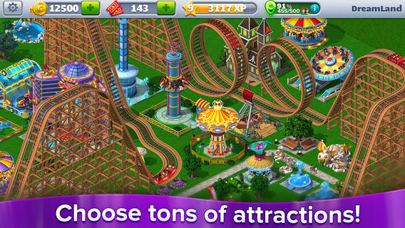 RollerCoaster Tycoon 4 Mobile 1.0 for iOS (iPhone screenshot 005)