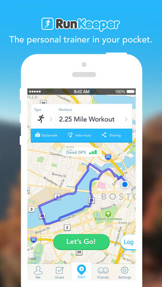 RunKeeper 4.5 for iOS (iPhone screenshot 001)