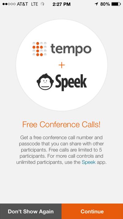 Tempo Smart Calendar (free conference calls 001)