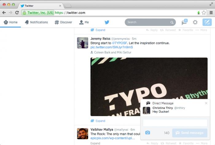 Twitter (web notifications 001)