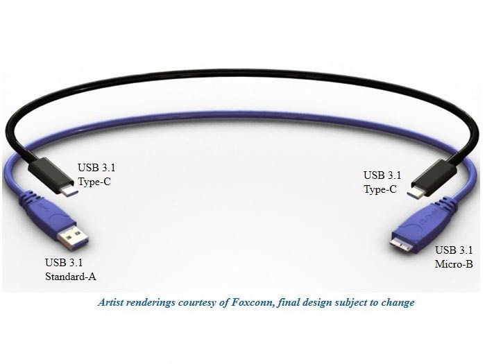 USB 3.1 reversible cable Type C (image 001)