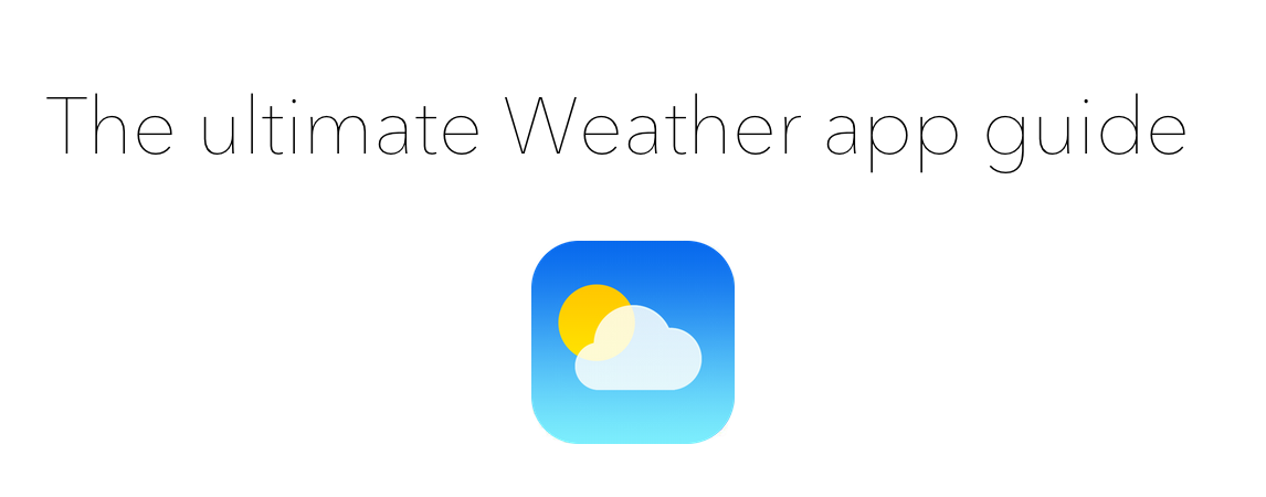 Ultimate guide header Weather app