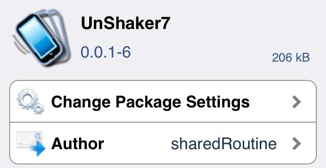 Unshaker7 Cydia