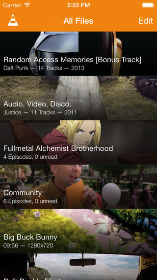 VLC 2.3 for iOS (iPhone screenshot 001)