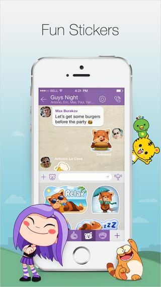 Viber 4.2 for iOS (iPhone screenshot 001)