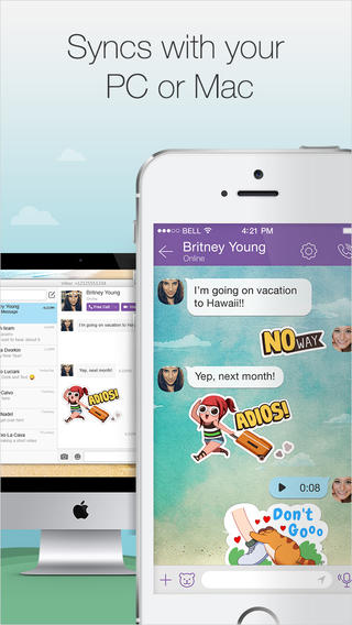 Viber 4.2 for iOS (iPhone screenshot 002)