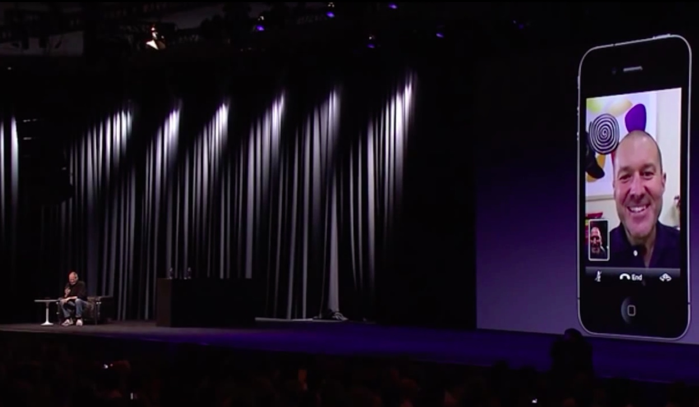 WWDC 2010 keynote (iPhone 4, FaceTime 002)