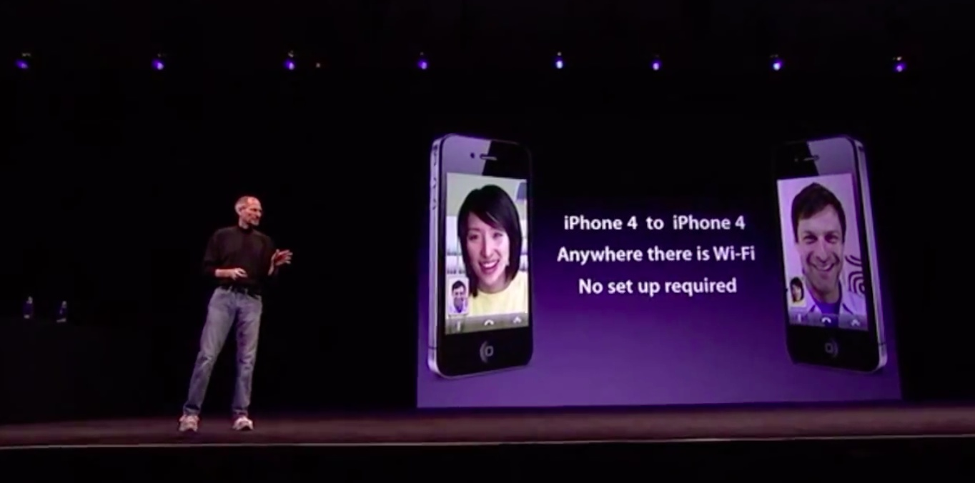 WWDC 2010 keynote (iPhone 4, FaceTime 004)