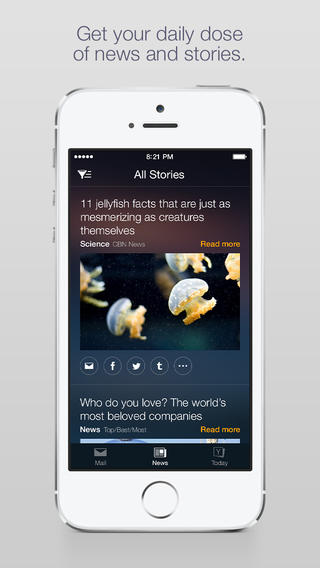 Yahoo Mail 3.0 for iOS (iPhone screenshot 001)