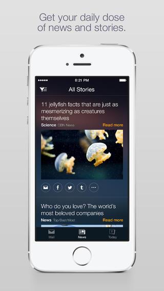 Yahoo Mail 3.0 for iOS (iPhone screenshot 001)
