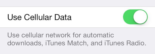 iOS 7 App Store Use Cellular Data