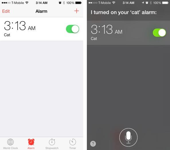 iOS 7 Clock alarm labels