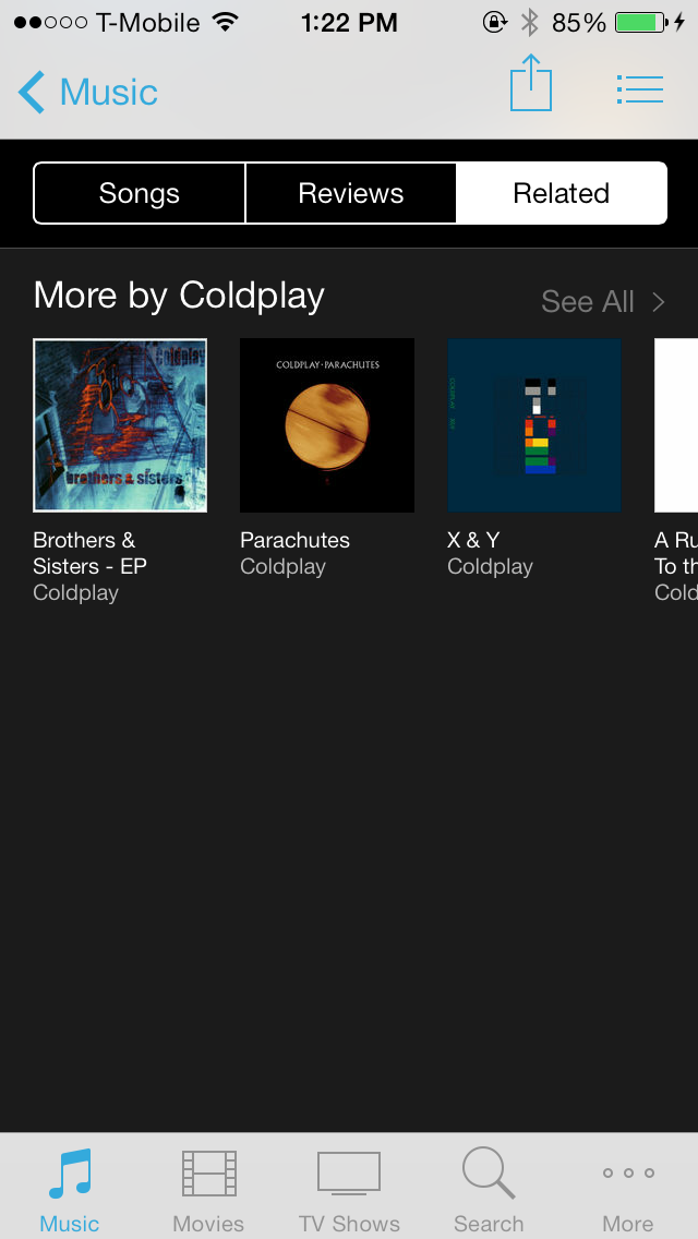 iOS 7 iTunes Store Related Tab