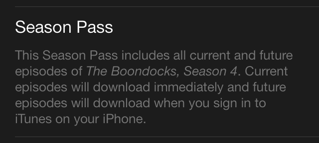 iOS 7 iTunes Store Season Pass