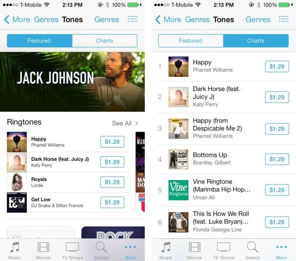 iOS 7 iTunes Store Tones