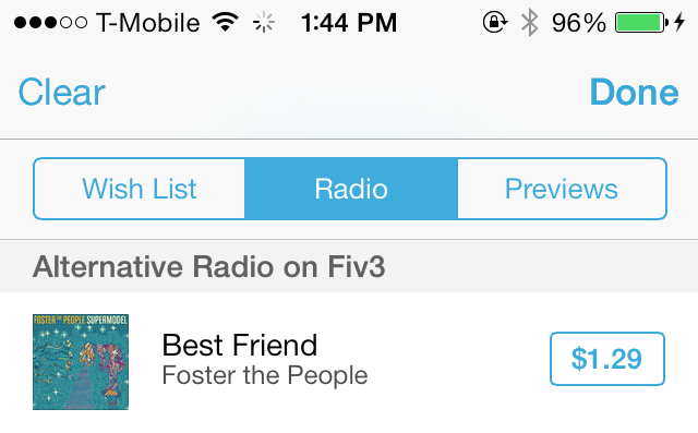 iOS 7 iTunes Store Wish List Radio