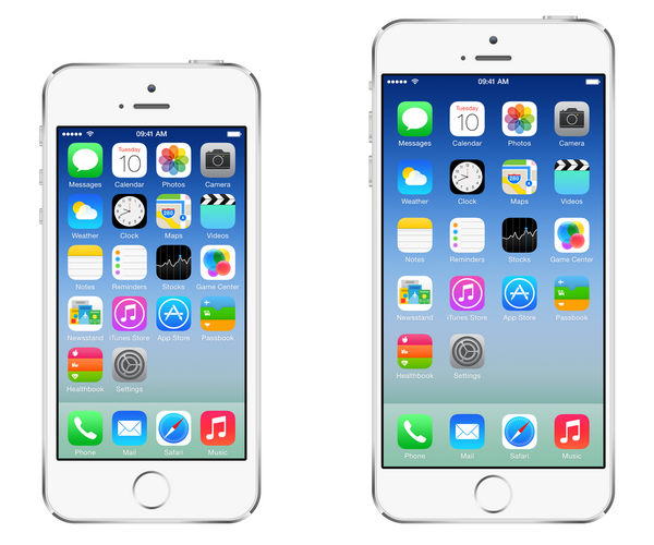 iPhone 6 mockup (Home screen, Sam Beckett 001)