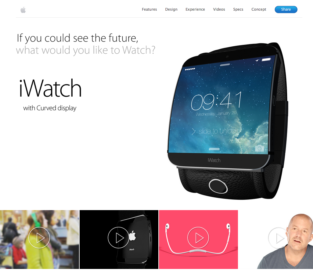 iWatch website mockup 001