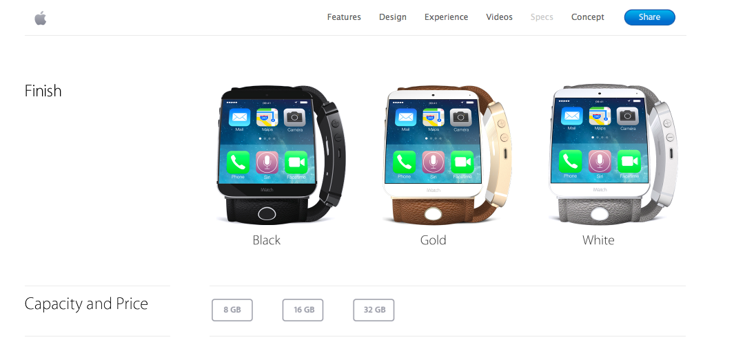 iWatch website mockup 002