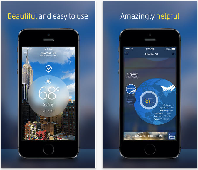 The Weather Channel app updated with all-new iOS 7 design