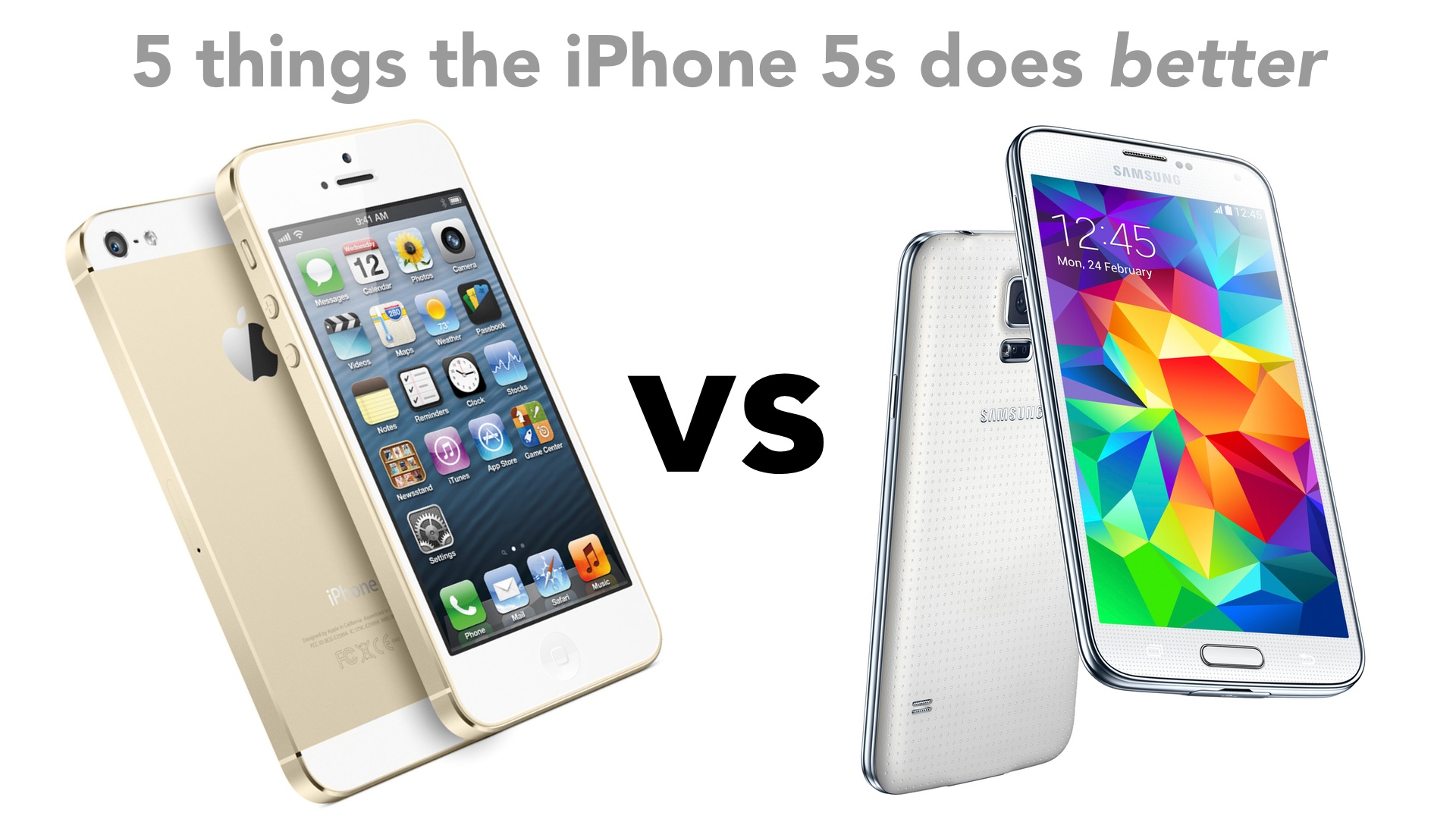 5 things the iPhone 5s does better