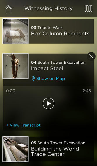 911 Museum Audio Guide 1.0 for iOS (iPhone screenshot 002)