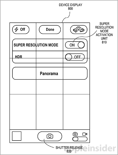 Apple patent (Super resolution imaging 002)