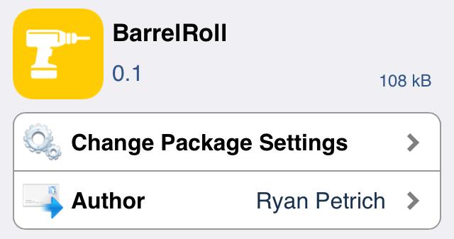 BarrelRoll Cydia