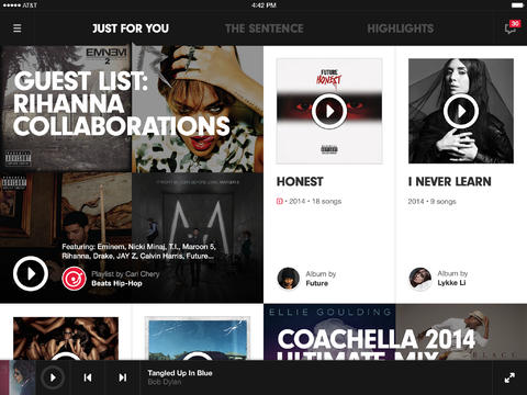 Beats Music 2.0 for iOS (iPad screenshot 001)