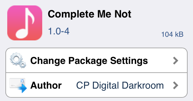 Complete Me Not Cydia